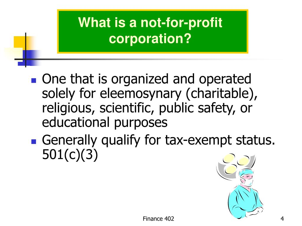 What is a not-for-profit