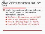 actual deferral percentage test adp test