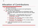 allocation of contributions