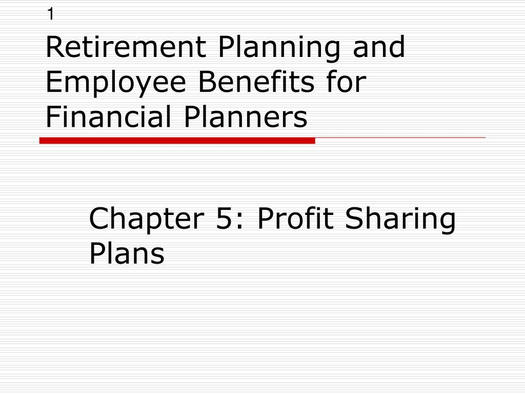 retirement planning and employee benefits for financial planners l.