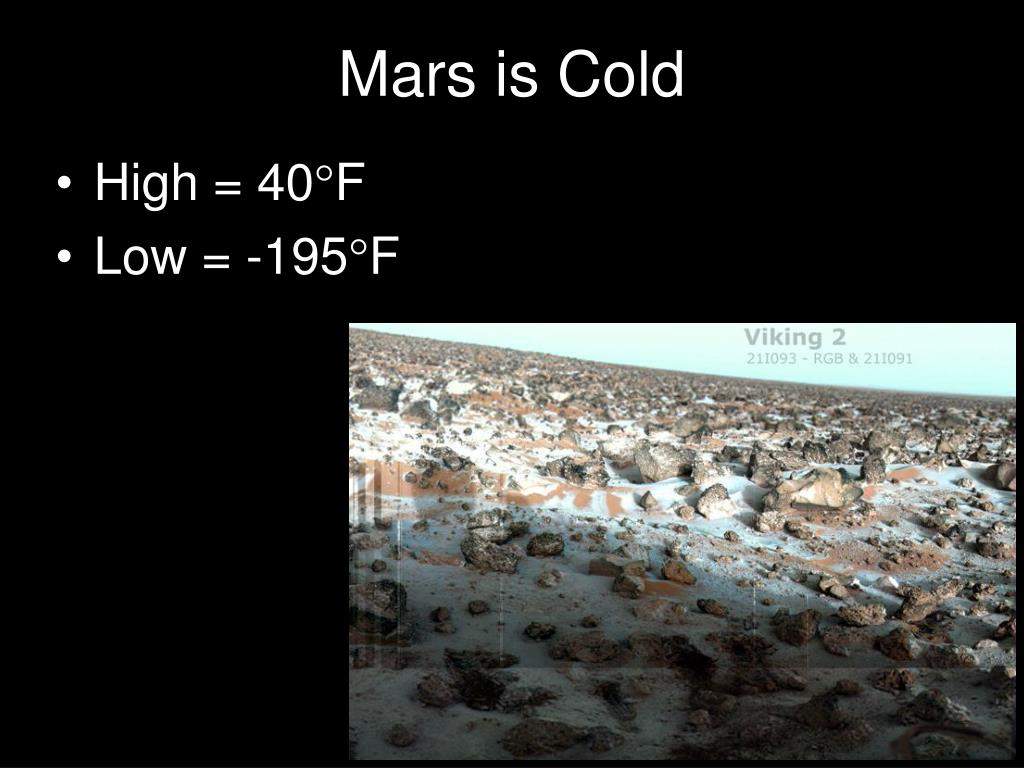 Mars is Cold