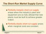 the short run market supply curve41