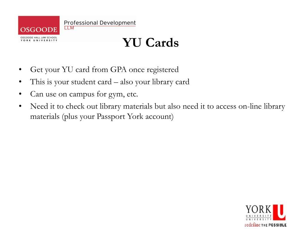 YU Cards