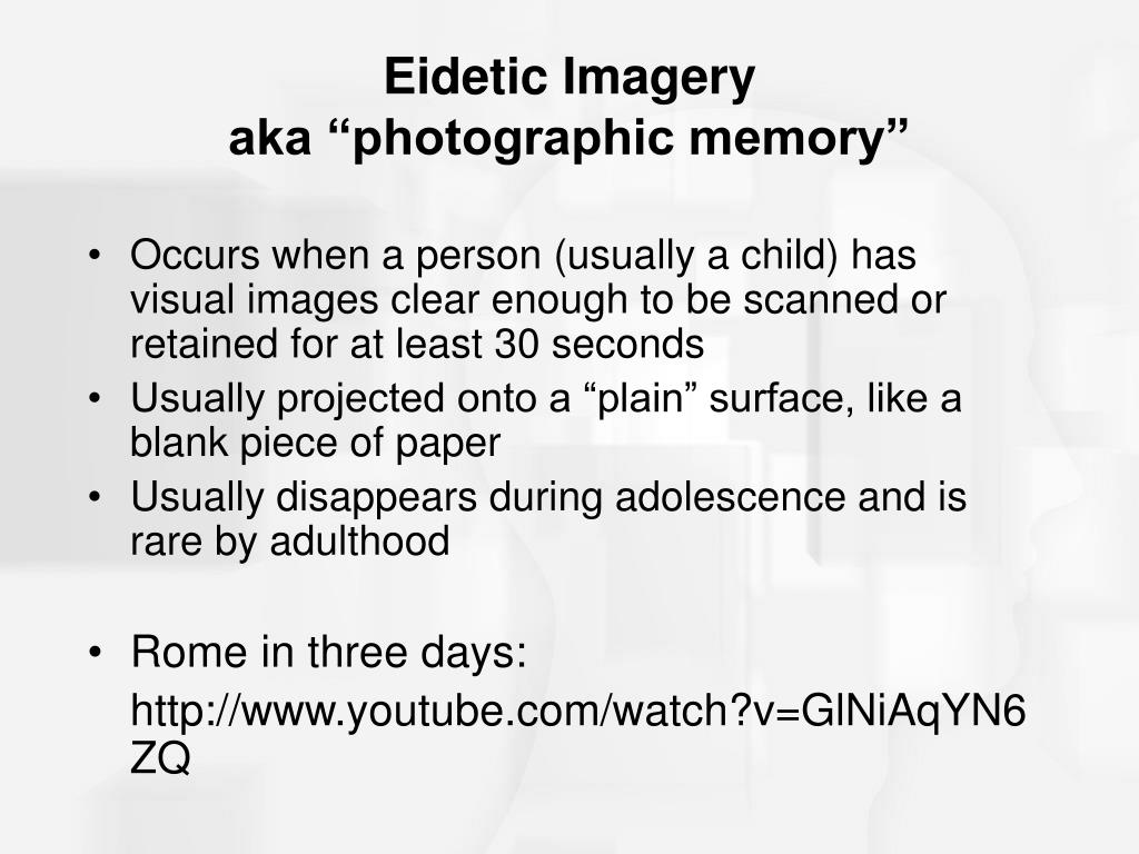 Eidetic Imagery