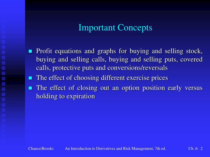 Important concepts