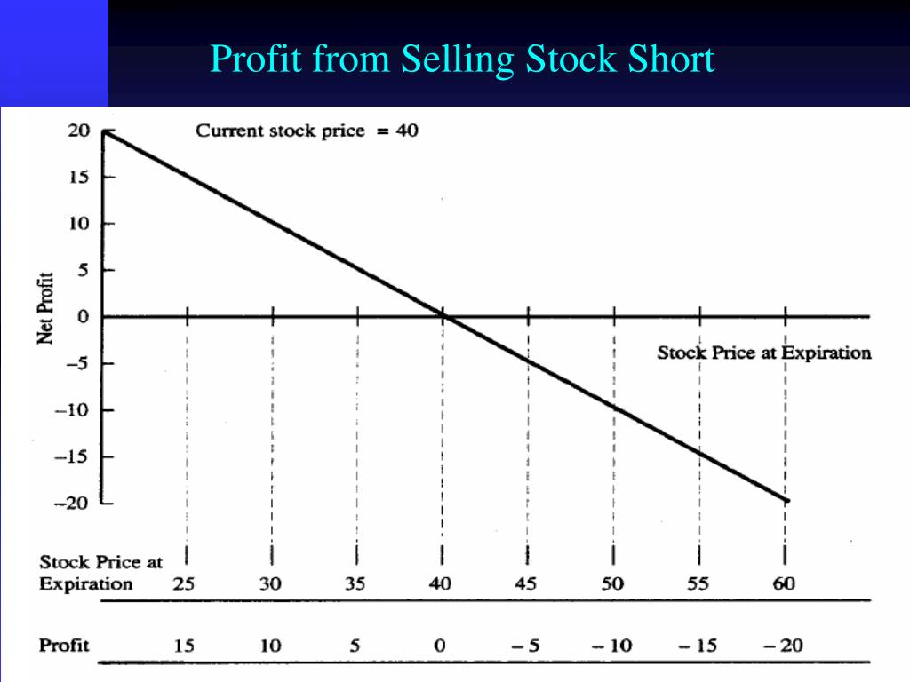 Profit from Selling Stock Short