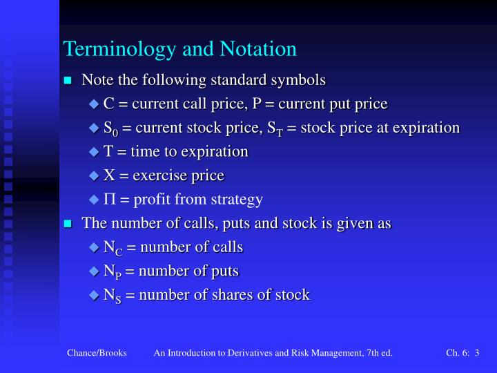 Terminology and notation
