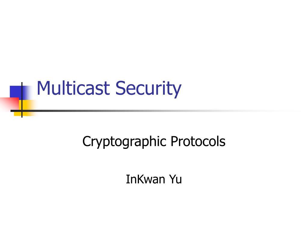 multicast security l.