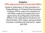 guideline fpps approved by ich associated dras