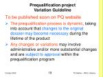 prequalification project variation guideline