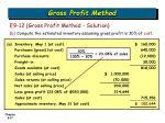 gross profit method27
