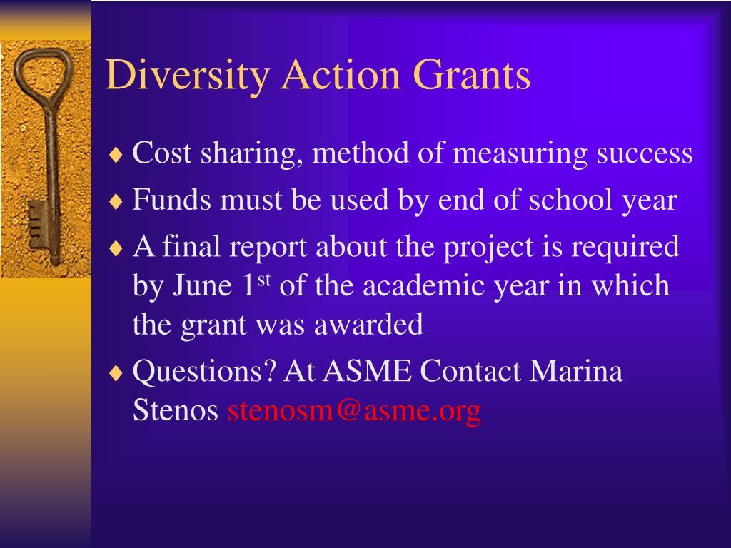 Diversity Action Grants