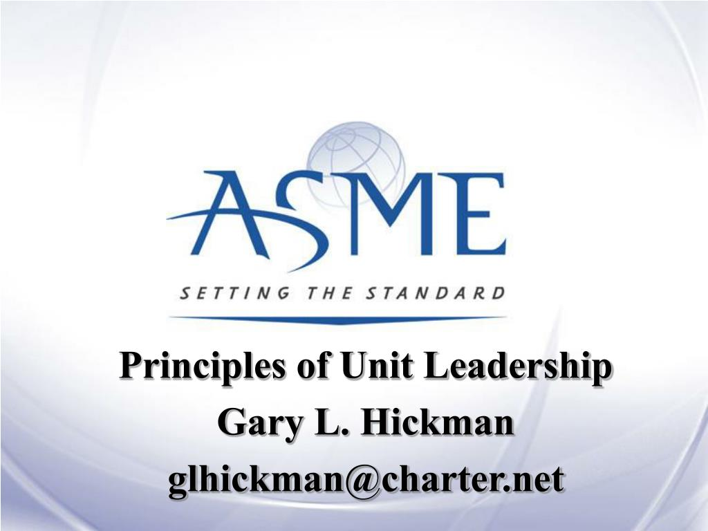 Principles of Unit Leadership