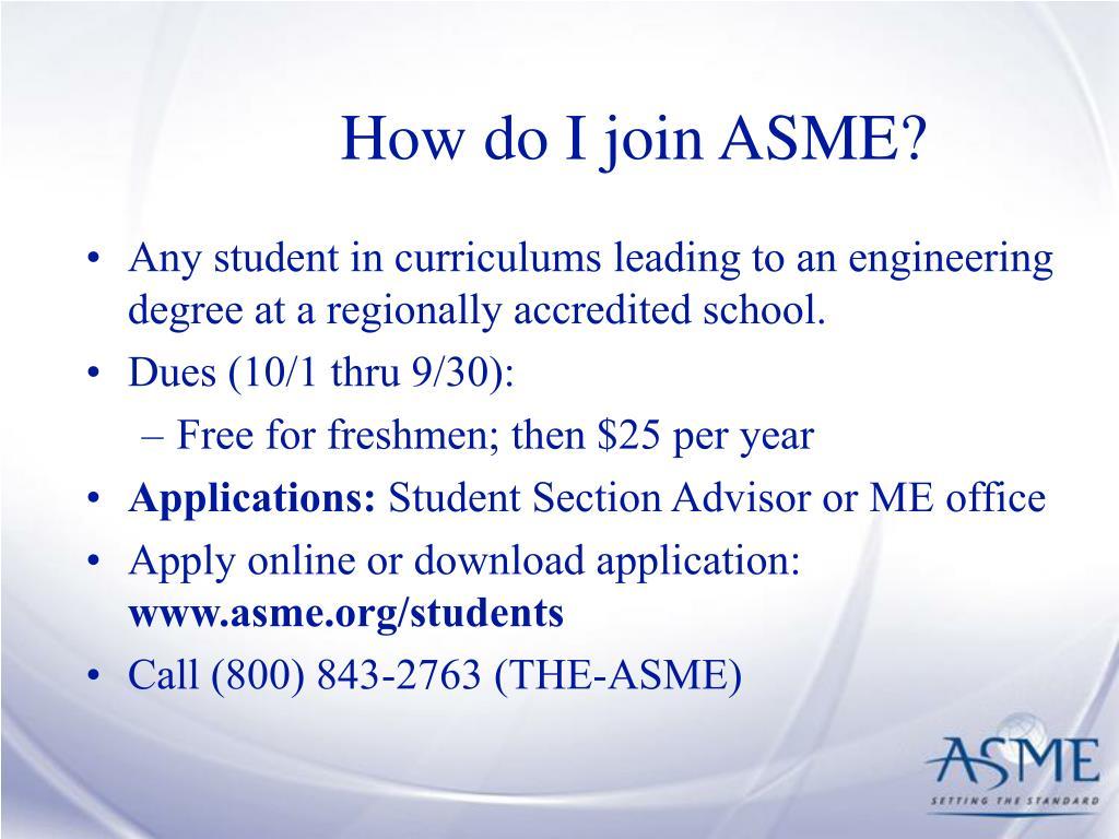 How do I join ASME?