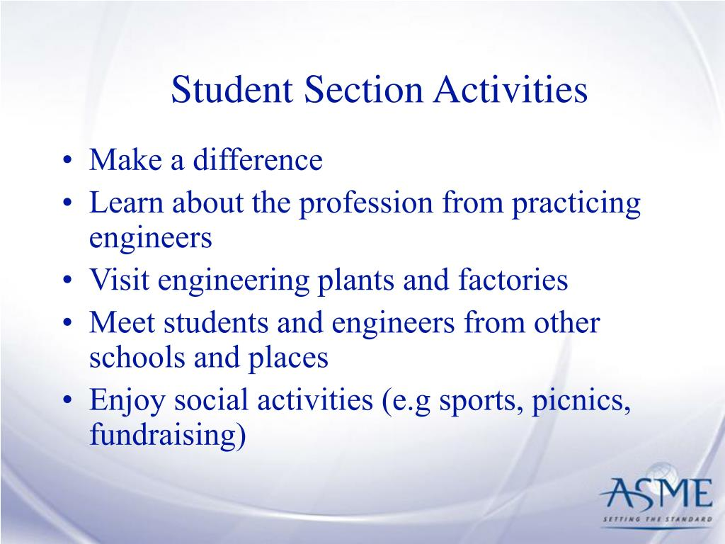 Student Section Activities