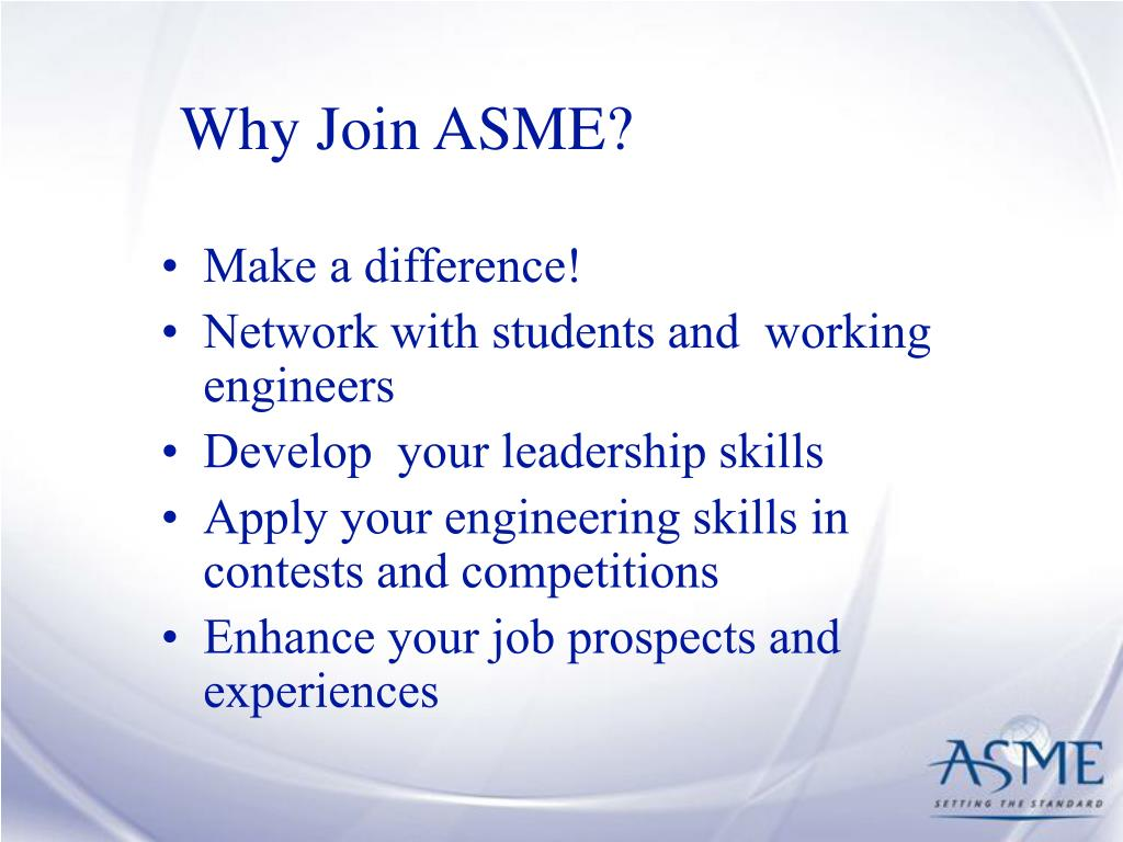Why Join ASME?