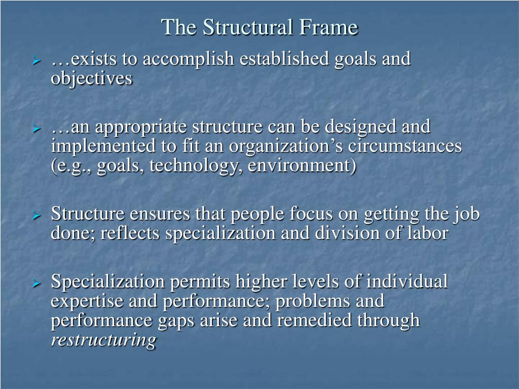 The Structural Frame