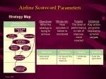 airline scorecard parameters