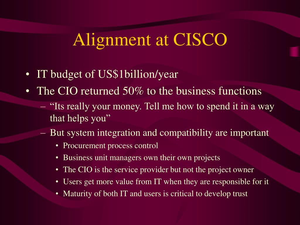 Alignment at CISCO