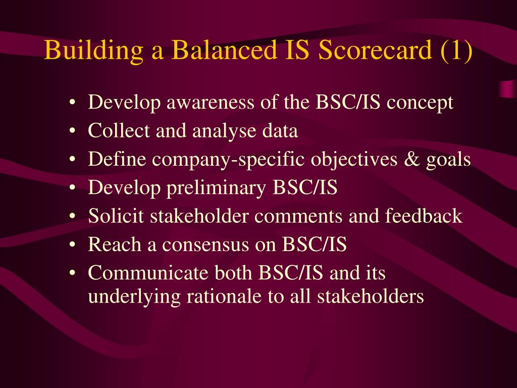 Building a Balanced IS Scorecard (1)