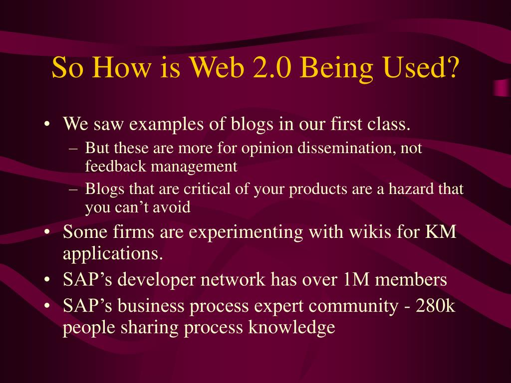 So How is Web 2.0 Being Used?