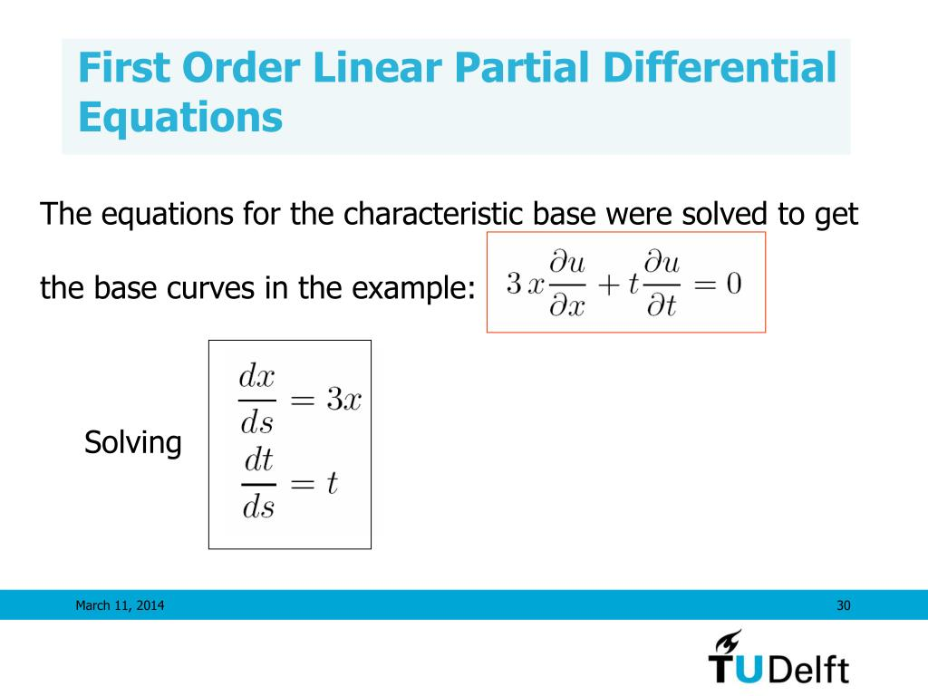 PPT - First Order Partial Differential Equations PowerPoint