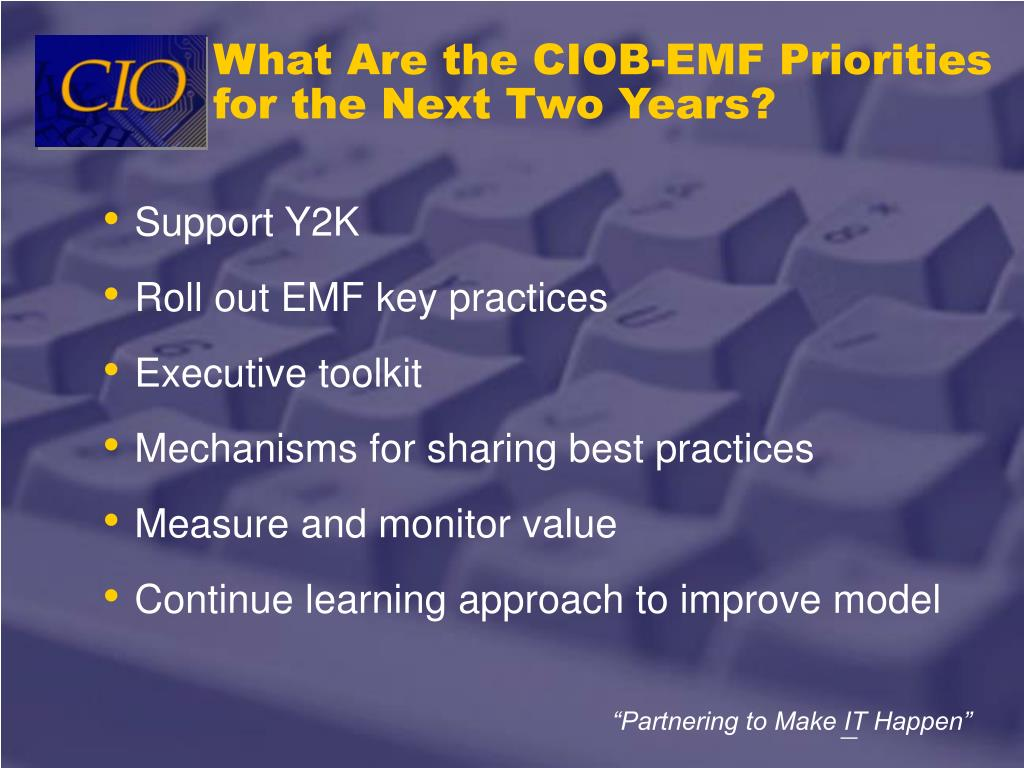 What Are the CIOB-EMF Priorities for the Next Two Years?