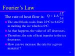 fourier s law39