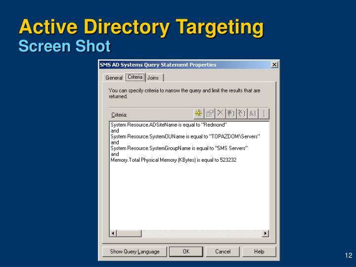 Active Directory Targeting