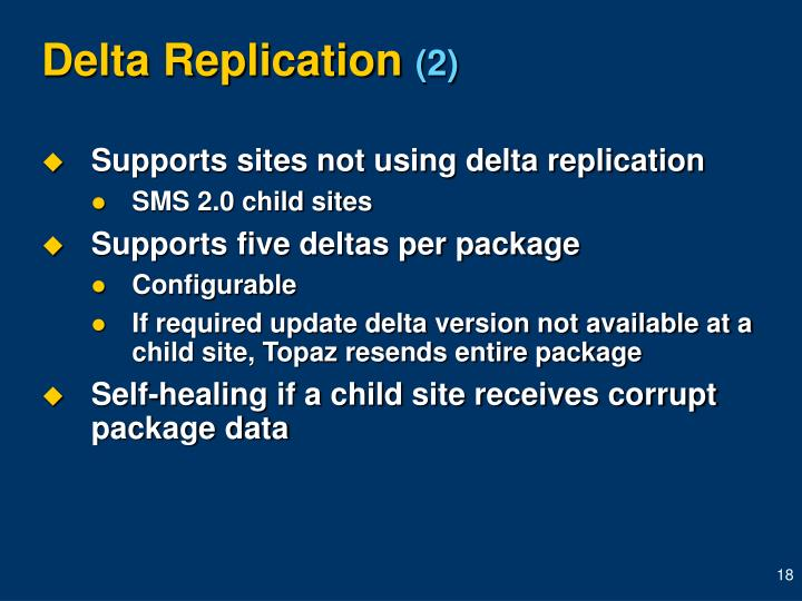 Delta Replication