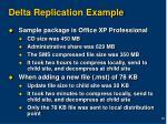 delta replication example