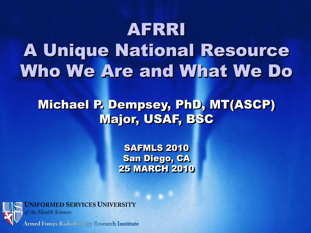 afrri a unique national resource who we are and what we do l.