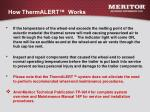 how thermalert works
