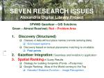 seven research issues alexandria digital library project