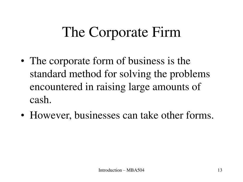 The Corporate Firm
