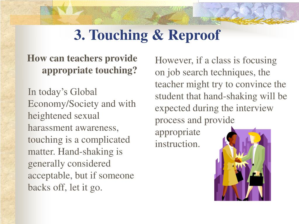 3. Touching & Reproof