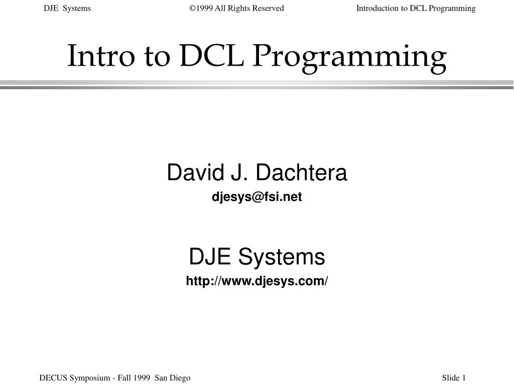 intro to dcl programming l.