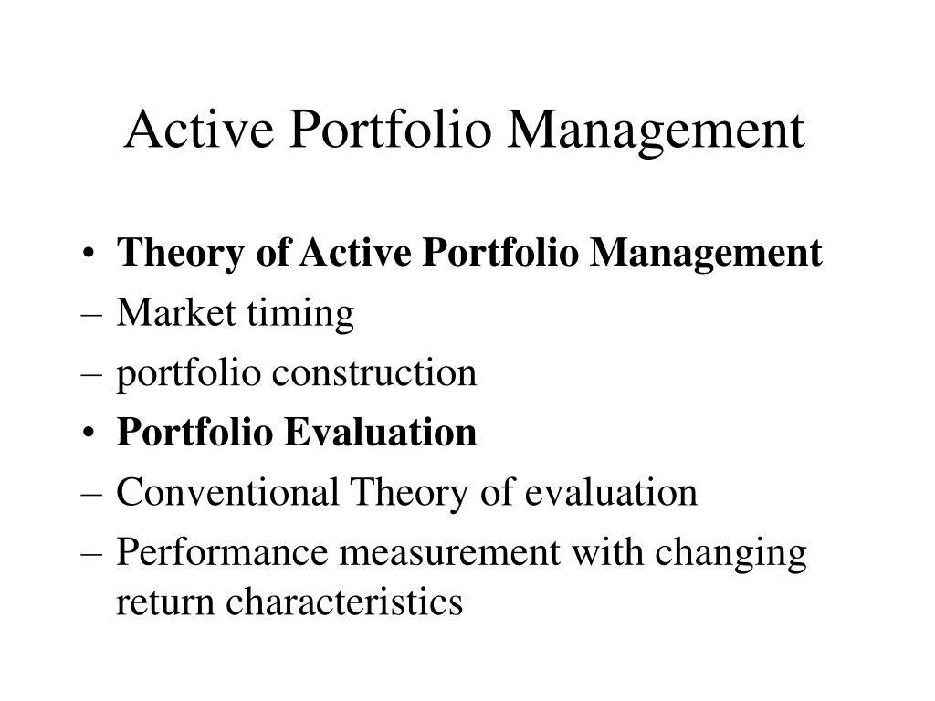 active portfolio management l.
