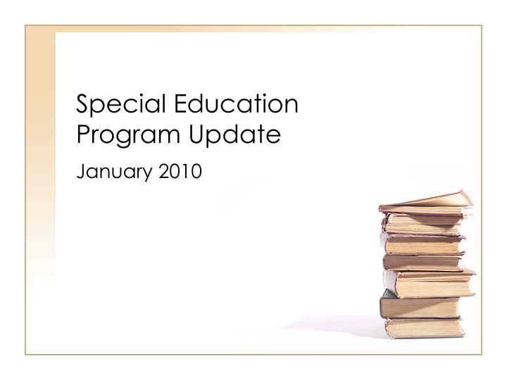 special education program update n.
