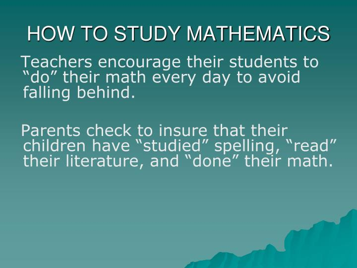 PPT - STOP DOING MATH LONG ENOUGH TO LEARN IT PowerPoint ...
