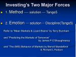 investing s two major forces