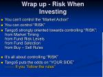 wrap up risk when investing