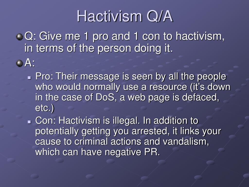 Hactivism Q/A
