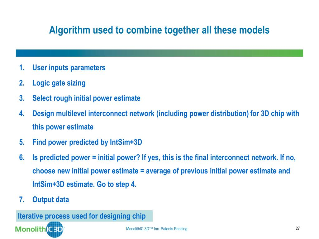 Algorithm used to combine together all these models