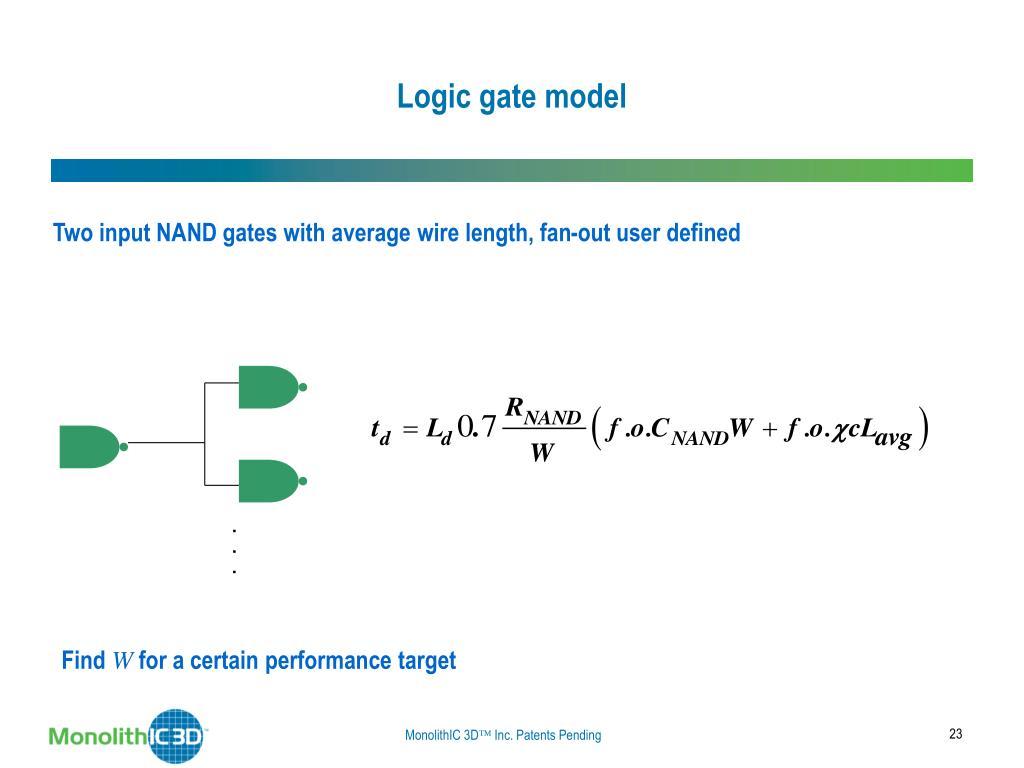Logic gate model