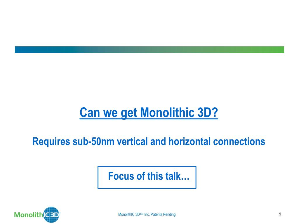Can we get Monolithic 3D?