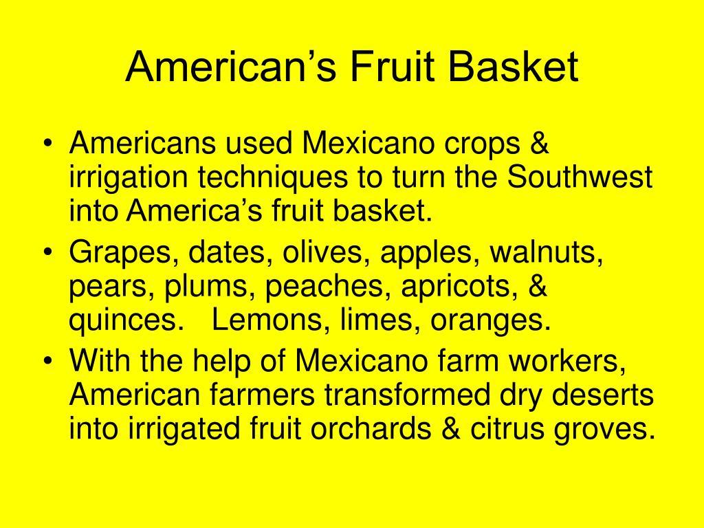 American's Fruit Basket