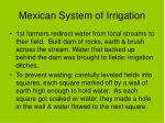 mexican system of irrigation