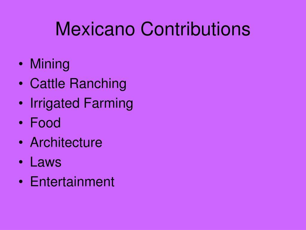 Mexicano Contributions