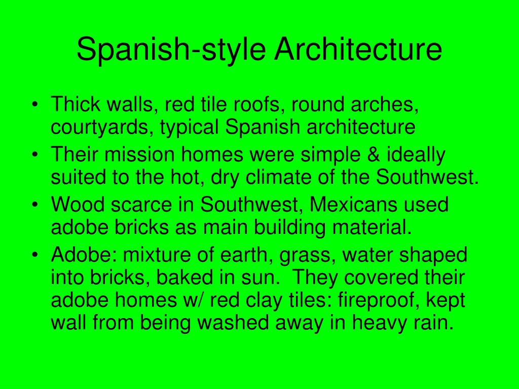 Spanish-style Architecture